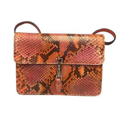 Orange python shoulder Bag-1