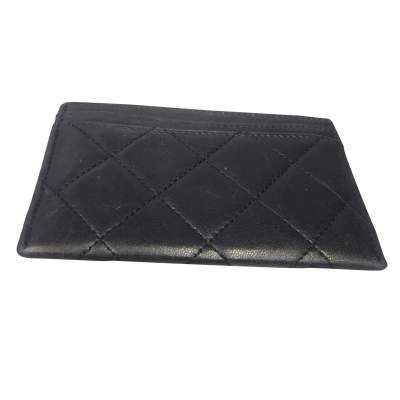 Black quilted leather Wallet-3