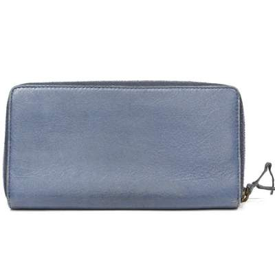 Blue leather Wallet-3
