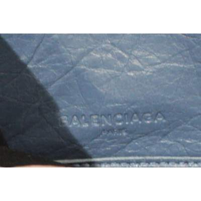 Blue leather Wallet-9