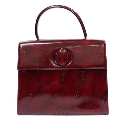 Bordeaux  leather Bag-0
