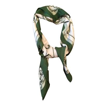 Vintage 61 Henri d'Origny, Mors & Gourmettes,  silk Scarf -0
