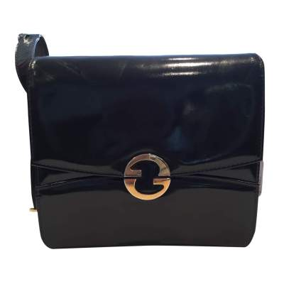 Vintage 1970s black patent leather Bag-1