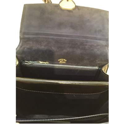 Vintage 1970s black patent leather Bag-9