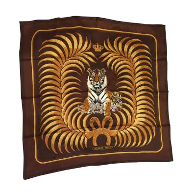 Tiger silk Scarf-0