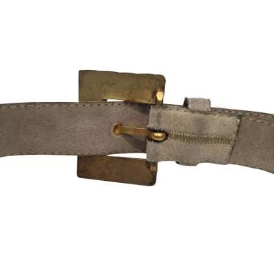 Vintage 1990 gray suede Belt-7