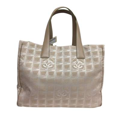Beige canvas tote Bag-1