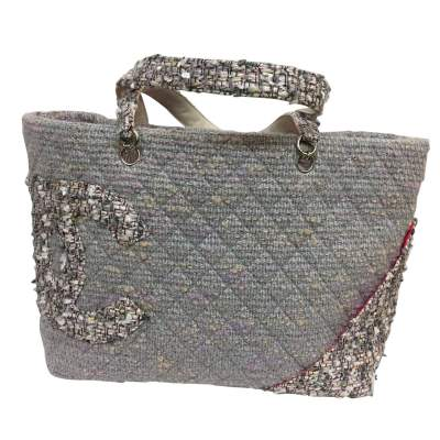 Collector tweed and lurex tote Bag-1