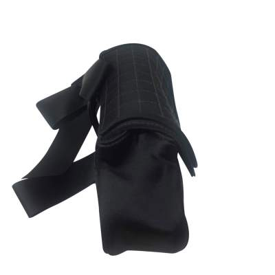 Satin black quilted Clutch-5