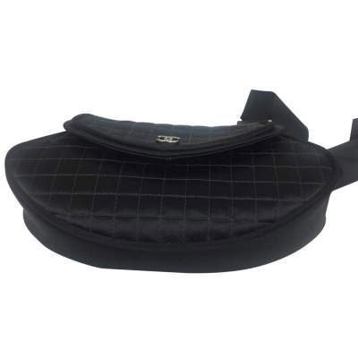 Satin black quilted Clutch-7