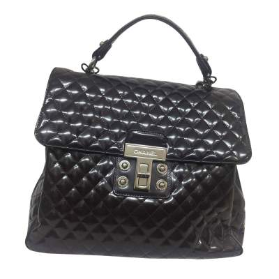 Large quilted patent leather Bag-0