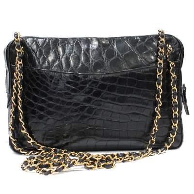 Vintage crocodile shoulder Bag-3