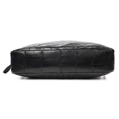Vintage crocodile shoulder Bag-7