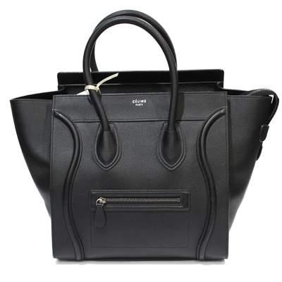 Black leather Luggage Handbag-0