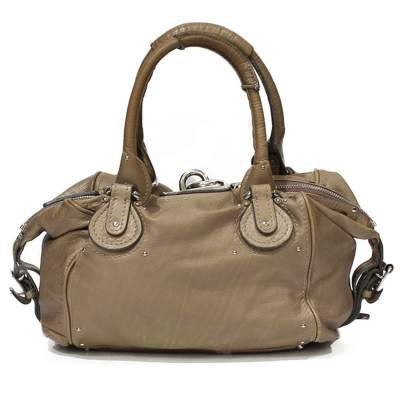Beige Paddington Bag-3