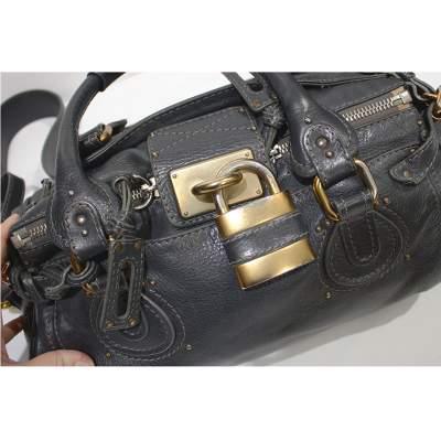 Gray paddington Bag-9