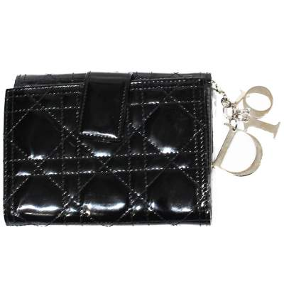 Black leather cannage Wallet-0