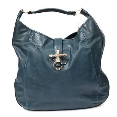 Blue leather Obsedia Bag-0