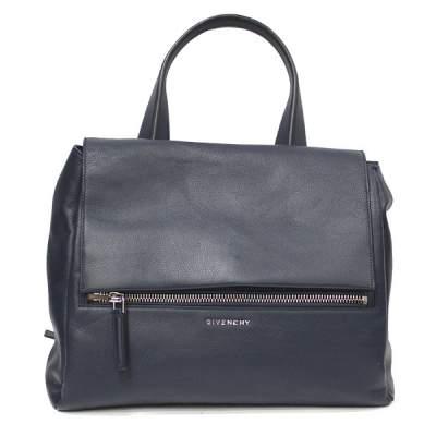 Blue leather Pandora Bag -0