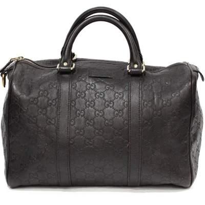 Dark brown Boston Bag-0