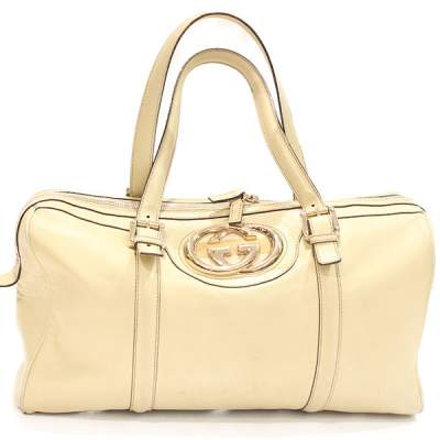 Cream Britt Boston Bag-0