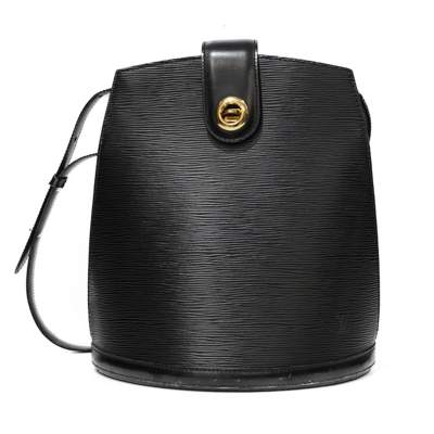 Cluny Black Epi Leather Bag-0