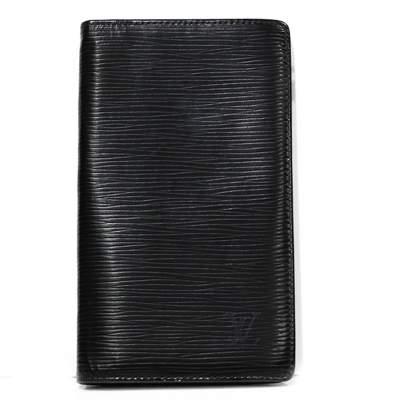 Black epi leather Wallet-0