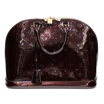 XL Verni amarante Alma Bag-0