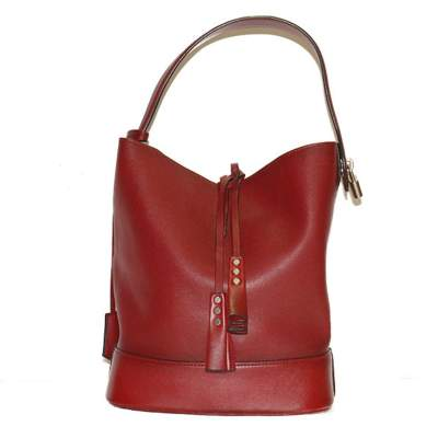 Red leather bordeaux Bag-0