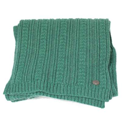 Long green cashmere Scarf-0