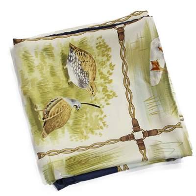 Green birds Scarf-3