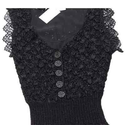 Black lace crochet Dress-5
