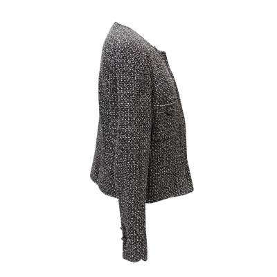 Black and white tweed Jacket-3