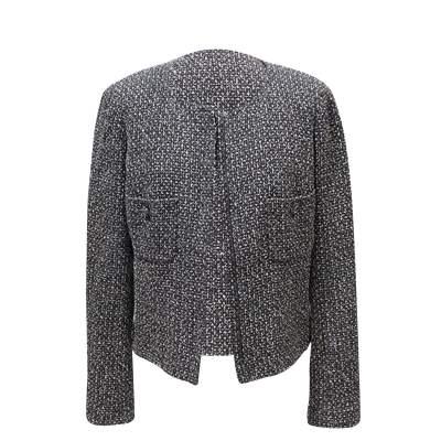 Black and white tweed Jacket-0