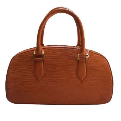 Small orange epi leather Handbag-0