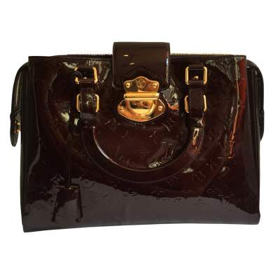 Burgundy patent leather Bag-1