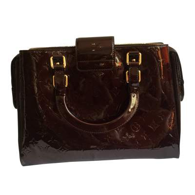 Burgundy patent leather Bag-3