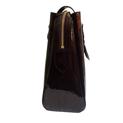 Burgundy patent leather Bag-5