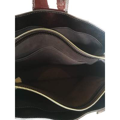 Burgundy patent leather Bag-9