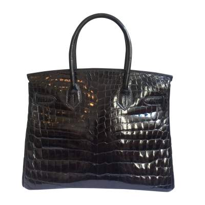Black crocodile Birkin-3