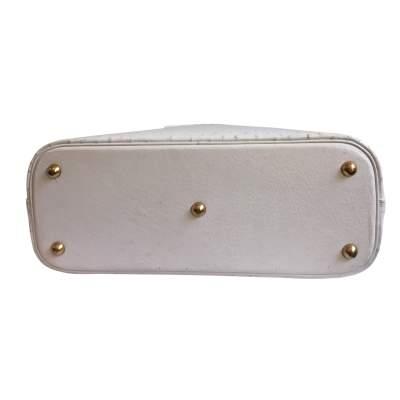 Bolide White Ostrich Handbag-9