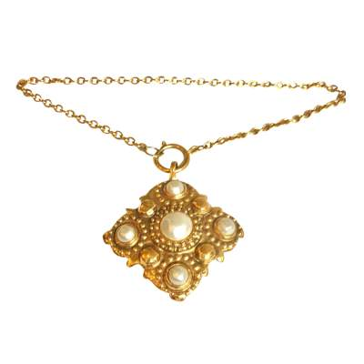 Pearl and gold metal Necklace -0