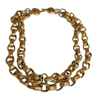 Gold metal Necklace -0