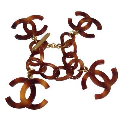 CC logo brown plexi Bracelet-0