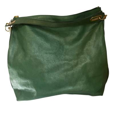 Green leather Handbag-0