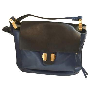 Tri-color leather Handbag-1