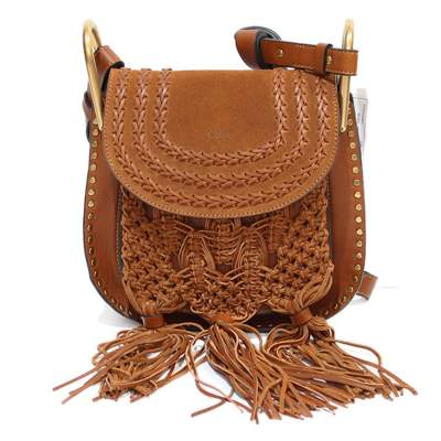Leather and skin caramel Hudson Bag -0