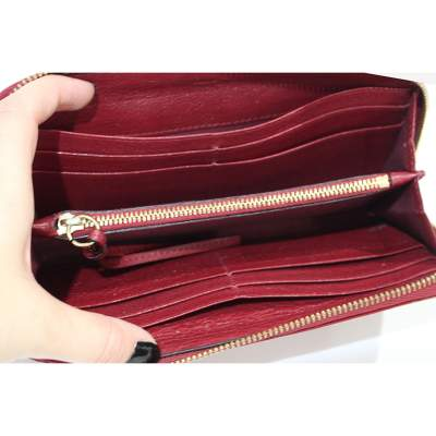 Red leather Wallet-7