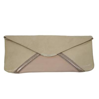Beige and nude Clutch-0