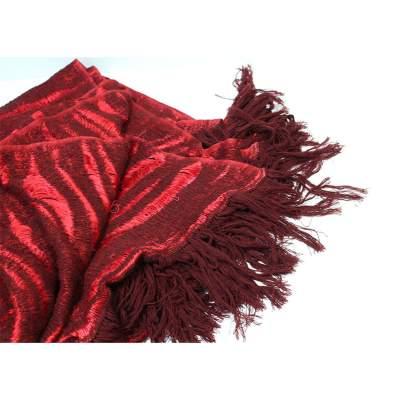 Yak wool red Scarf-3